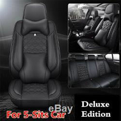 PU Leather Seat Cover5-Sits Car Seat Protector Cushion For Interior Accessories