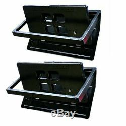 Pair 12V Car Vehicle Front / Rear Foldable License Plate Cover US Type Foldable