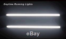 Pair 45CM Car Switchback LED Knight Rider Strip Light Turn Signal Sequential 12V