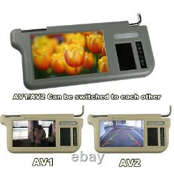 Pair 7 2 Channel Video Car SunVisor LCD Monitor For RearView Camera&DVD/VCD/GPS