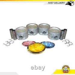 Pistons with Rings Fits 89-92 Chrysler Dodge Plymouth LeBaron Voyager 2.5L TURBO