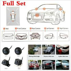 Set DVR Universal Recording Parking Rear View 4 Cam for All Car HD 360 Degree