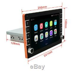 Single DIN Car MP5 Player FM Stereo Radio 9in Touch Screen 16GB With Knob Button