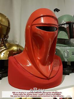 Star Wars Emperors Royal Shadow Guard 11 Helmet Prop with base ROTJ Rogue One