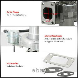 T3/T4 Racing Turbocharger With V-Band Outlet & Internal Wastegate For Mitsubishi