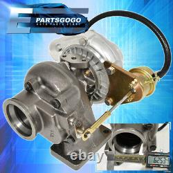 T3/T4 Vband Turbo Charger 350+ Hp With 8Psi Wastegate V-Band For 240Sx S13 S14