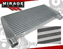 Tube & Fin 29X11X2.5 Top Inlet/Exit Front Mount TMIC Intercooler For Audi RS