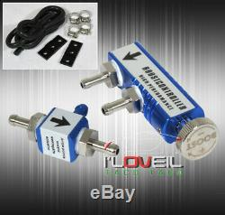 Turbo Parts 2.5 Blow Off Valve+Bov Coupler Blue/38mm Waste Gate/Controller