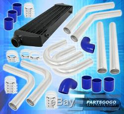 Turbo/Super Charger Front Mount Intercooler Fmic + Piping Kit + Couplers + Clamp