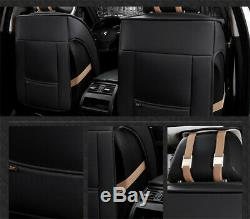 US! 3D Surround Luxury Full Seat PU Leather Car Seat Cover Cushion Breathable