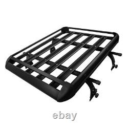 Universal 50 X 38 Black Aluminum Roof Top Rack Basket Luggage Carrier For SUV