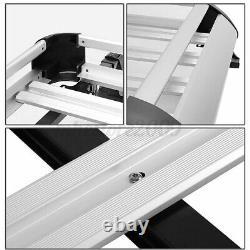Universal Black Roof Rack Extension Cargo Top Luggage Hold Carrier Silver Basket
