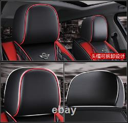 Universal Car Seat Cover Luxury Leather Full Set Front&Rear Seat Back Protector