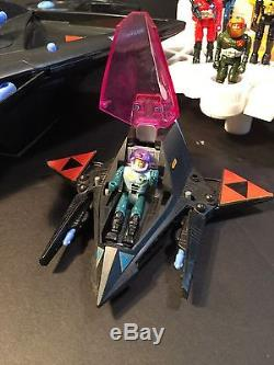 Vintage Coleco Starcom Shadow Bat/Parasite, Star Base, And Characters