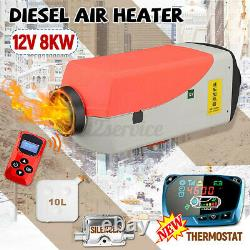 Warmtoo 12V 8KW Air Diesel Parking Fuel Heater Kit LCD 10L Tank For Boat Truck